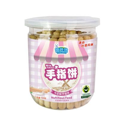 台湾风味棒棒形饼干_牛奶味手指饼_罐装