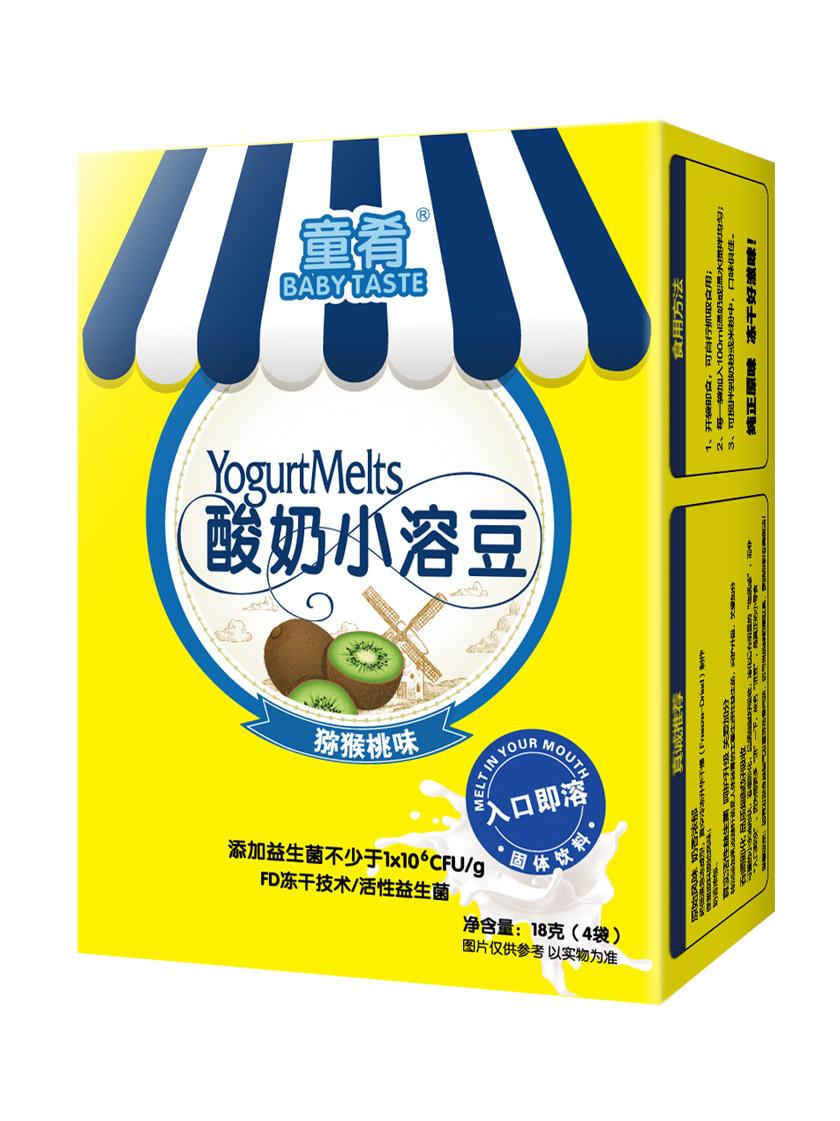 童肴 猕猴桃益生菌酸奶小溶豆豆18g_宝宝零食