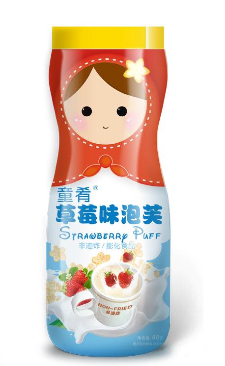 童肴_星星泡芙_草莓味泡芙_宝宝泡芙_儿童食品