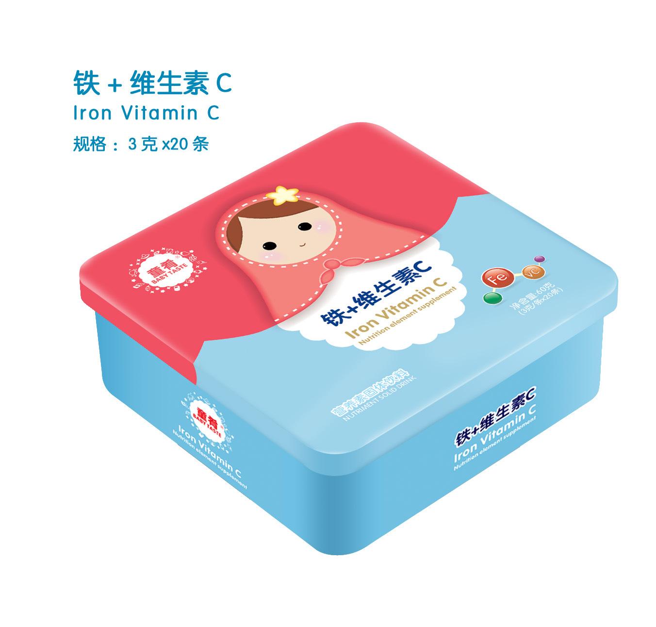 童肴 铁+维生素C营养素,补充钙铁锌维生素系列
