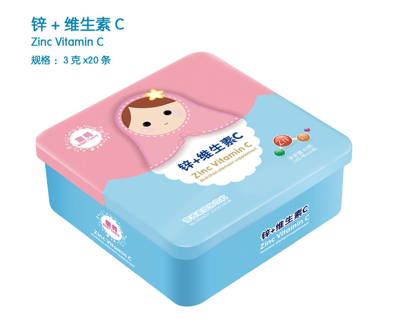童肴 锌+维生素C营养素,补充钙铁锌维生素系列